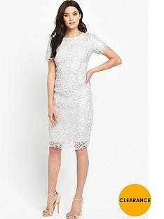 v-by-very-metallic-lace-midi-pencil-dress