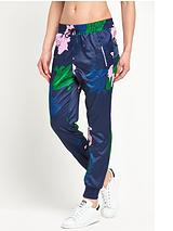 Floral Engraving Sateen Track Pant