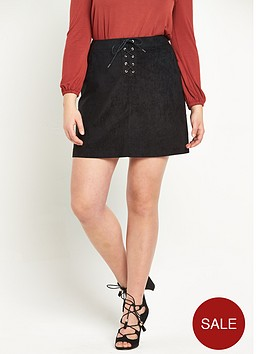 so-fabulous-tie-front-fauxnbspsuede-a-line-skirt