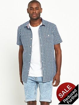 v-by-very-short-sleeve-gingham-shirt