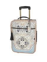 Blue Floral Scarf Print Suitcase