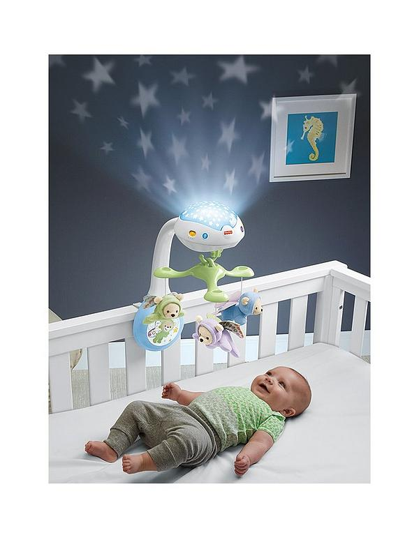 Fisher Price Butterfly Dreams 3-In-1 Newborn Baby Light Projector Remote Mobile
