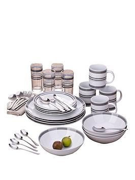bistro-stripe-36-piece-grey-dinner-set