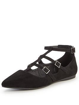 v-by-very-devon-triple-buckle-pointed-ballerina-shoe