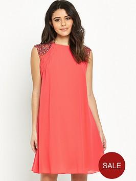 little-mistress-embellished-sleevenbspswing-dress