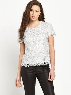 v-by-very-metallic-lace-shell-top