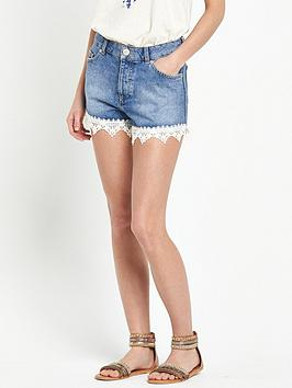 miss-selfridge-crochet-hem-shorts