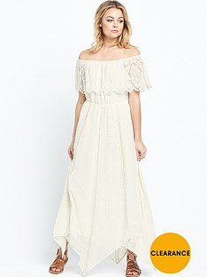 miss-selfridge-bardot-ruffle-midi-dress