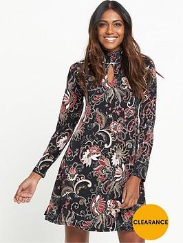 v-by-very-shirred-neck-jersey-dress