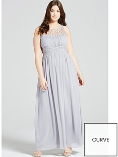 little-mistress-curve-embellished-maxi-dress-grey