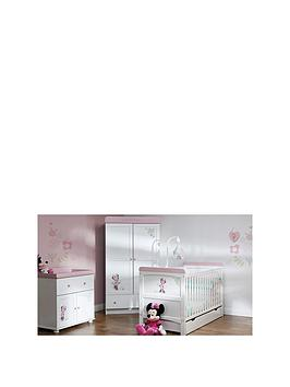 minnie-mouse-love-minnie-cot-bed-under-drawer-double-wardrobe-and-dresser-changer