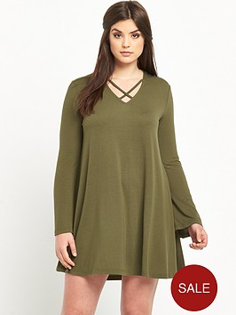 alice-you-alice-amp-you-cross-front-swing-dress