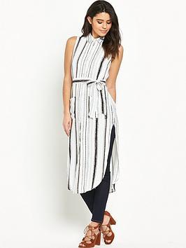 glamorous-side-split-longline-shirt