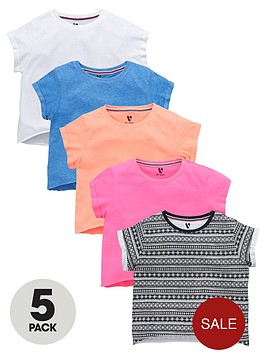 v-by-very-girls-aztec-and-bright-t-shirts-5-pack