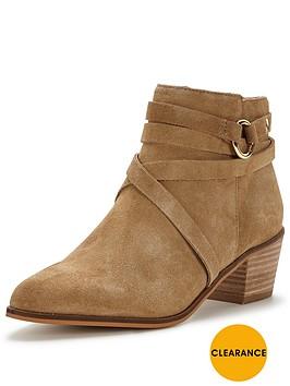 miss-selfridge-eyelet-trim-ankle-boot