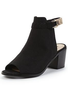 miss-selfridge-plait-detail-peep-toe-ankle-boot
