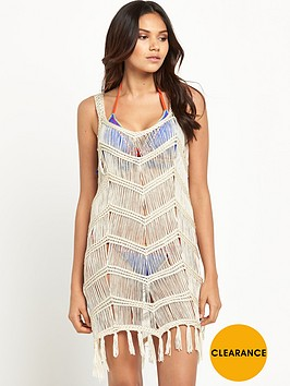 v-by-very-crochet-tassel-beach-vest-dress