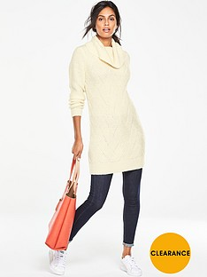 v-by-very-weave-pattern-roll-neck-tunic-jumper