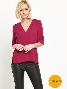 river-island-short-sleeve-v-neck-blouse