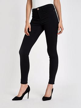 river-island-molly-mid-rise-jeggings-black