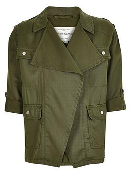 river-island-girlsnbspkhaki-draped-front-jacket