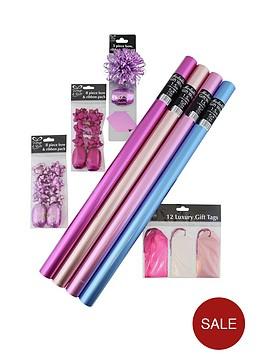 metallic-gift-wrap-19-piece-bundle