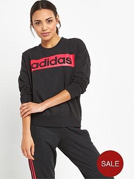 adidas-essentials-linear-sweat-top-black