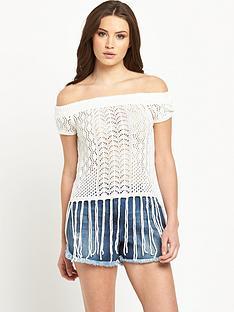 v-by-very-crochet-bardot-tassel-top