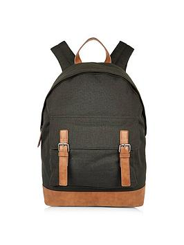 river-island-double-buckle-backpack