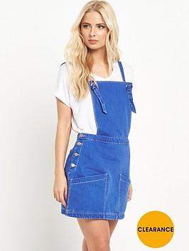 v-by-very-denim-pinafore-mini-dress