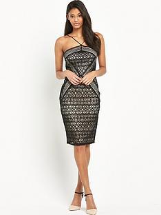 lipsy-geometric-lace-dress