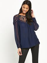 Embellished Blouson Top