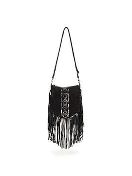 glamorous-suede-stud-tassel-bag