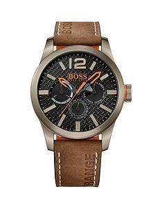 hugo-boss-paris-tan-strap-black-chronograph-dial-gents-watch