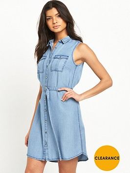 v-by-very-sleeveless-denim-shirt-dress