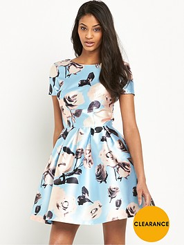 chi-chi-london-rose-print-full-skater-mini-dress