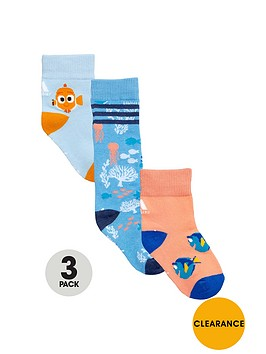 adidas-adidas-disney-younger-girls-3pk-dory-socks