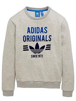 adidas-originals-older-boys-logo-crew-neck