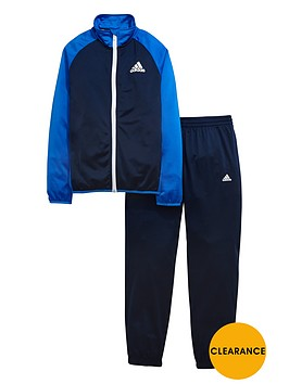 adidas-older-boys-poly-tracksuit