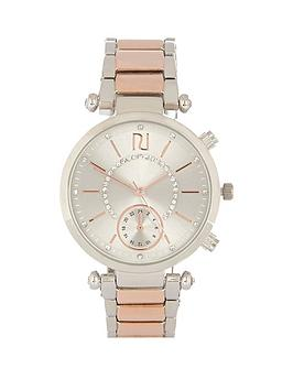 river-island-river-island-mixed-metal-two-tone-ladies-watch