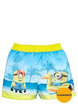 minions-boys-tropical-beach-board-shorts