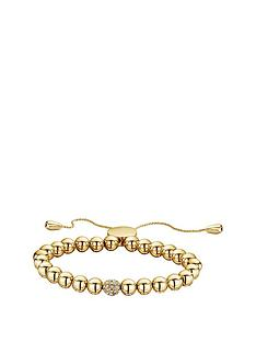 buckley-london-gold-tone-simplicity-bead-bracelet