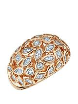 Rose Gold Plated Mixed Shape Cubic Zirconia Ring