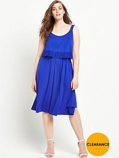 so-fabulous-trim-detail-double-layer-jersey-dress-blue