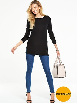 v-by-very-crew-neck-split-side-longline-jumpernbsp