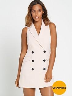 rochelle-humes-sleeveless-blazer-dress