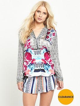 river-island-printed-pyjama-shirt