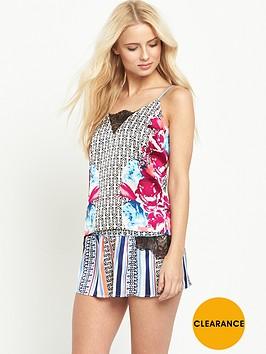 river-island-printed-lace-insert-pyjama-cami-top