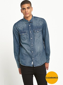 river-island-long-sleeved-western-denim-shirt