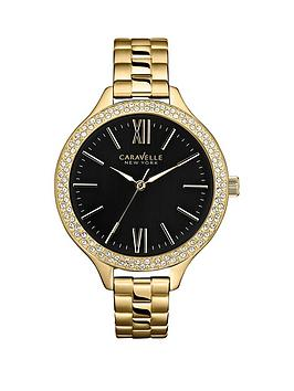 caravelle-new-york-black-dial-stainless-steel-ladies-watch